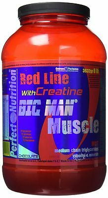 Perfect Nutrition  Red Line Big Man Muscle  Mass Gainer - Chocolate - 8 lb