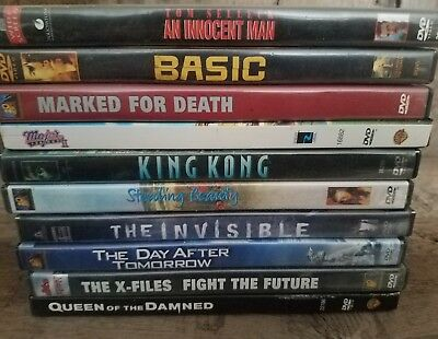 Lot of 10 DVD's for $25 Bucks ! FREE SHIPPING !