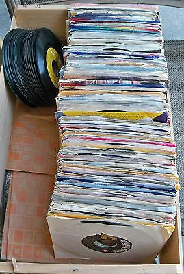 Lot of 230 Vintage 45rpm Records w/ Sleeves + 26 w/ No Sleeves - Various Artists