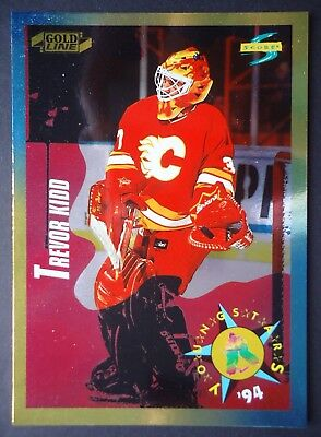 NHL 259 Trevor Kidd Calgary Flames Young Stars Score Gold Line 1994/95