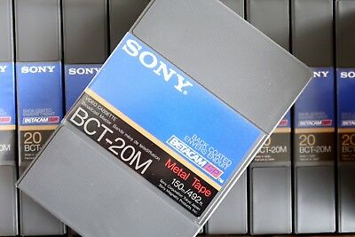 Sony Bct-20M Betacam Sp Broadcast Master Metal Tape