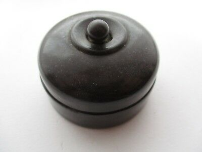 Vintage Crabtree Bakelite Light Switch With Ceramic Base