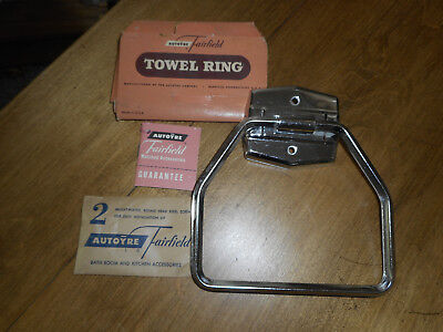 Vintage Autoyre Fairfield Towel Ring Chrome NOS New Old Stock