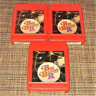 Lot of THREE 8-track tapes ~ BIG BANDS REVISITED ~ Volumes I, II & III