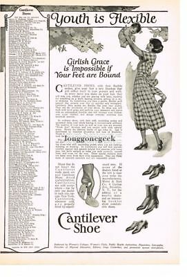 1922 CANTILEVER Shoe Woman with Baby art by Anita Parkhurst Wilcox Vtg Print Ad