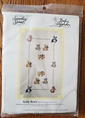 Something Special Baby Afghan Counted Cross Stitch Kit Teddy Bears New 50464