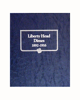 New Whitman OFFICIAL CLASSIC BARBER HEAD DIMES 1892 TO 1916 Coin Album BOOK#9117