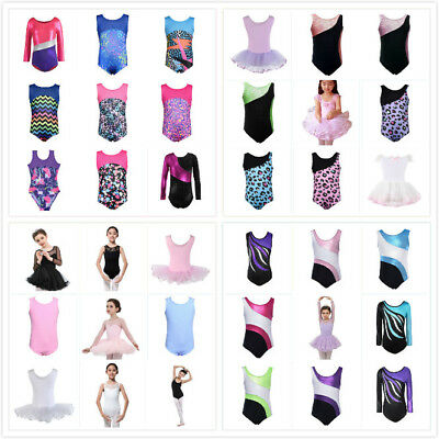 Kids Baby Girls Ballet Gymnastic Leotards Unitards Dancewear Costume Tutus Dress