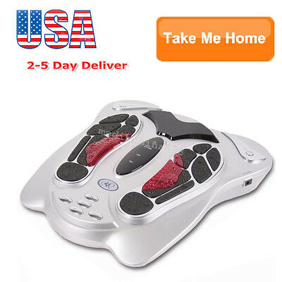 US SELL Electromagnetic Wave Pulse Circulation Foot Massager Reflexology Booster