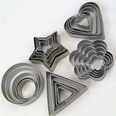 Star Heart Flower Cake Cookie Cutter Stainless Steel Pastry Baking Mold Kitchen