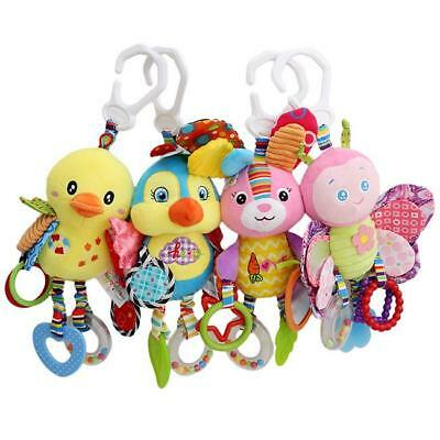 Hanging Stroller Baby Animal Plush Rattles Infant Bell Bed Toy Doll Soft Toys C