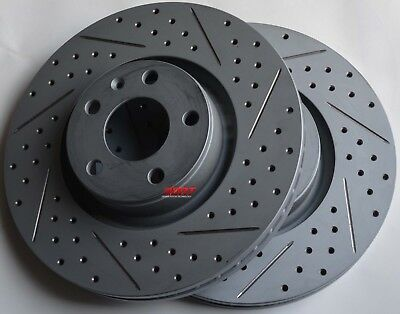Fits 05-11 Audi A6 3.2 3.0 Drilled Slotted Brake Rotors Made In Germany Front