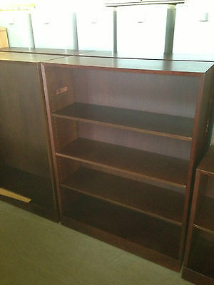 "***SOLID WOOD BOOKCASE by HALE FURNITURE, INC in MAHOGANY COLOR WOOD 48""H***"