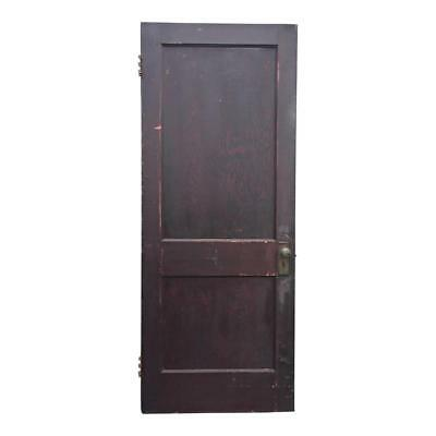 Vintage WOOD DOOR paneled wooden antique brown architectural salvage exterior pa
