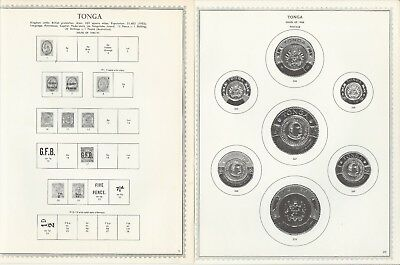 Tonga 1886 to 1986 One-Sided Minkus Specialty Pages, 130 Pages Unused