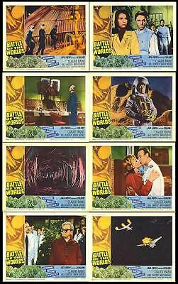 BATTLE OF THE WORLDS orig 1963 lobby card set CLAUDE RAINS 11x14 movie posters