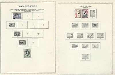 Tristan Da Cunha Collection 1952-72 on 11 Minkus One-Sided Specialty Pages