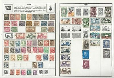 Tunisia Collection 1888 to 1988 on 8 Harris Pages, All Different