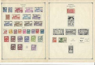 Tunisia Collection 1940 to 1962 on 15 Scott International Pages