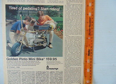 1970 Golden Pinto Mini Bike Ad JC Penneys Color