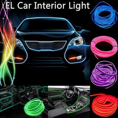 1-5M Neon LED Light Glow EL Wire String Strip Rope Car Party Waterproof
