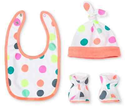 Oh Joy! for Target 3 pc Baby Girl Gift Set Dotty Peppy Pink Hat Bib Booties NEW