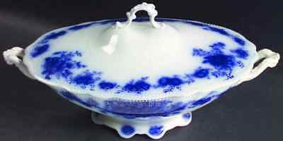 Grindley ALBANY (FLOW BLUE) Oval Covered Vegetable Bowl 2287815