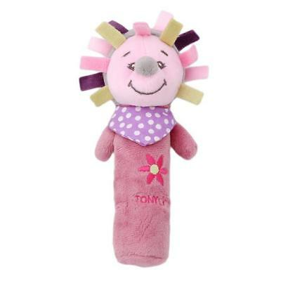 Boy Girls Newborn Baby Soft Sound Animal Plush Handbells Squeeze Rattle Toy S