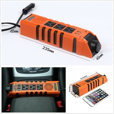 2USB Portable 150W DC12V To AC110V Vehicle Power Inverter Charger Adapter Socket