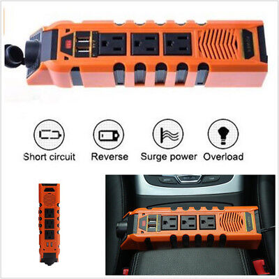 Universal 150W DC12V To AC110V Car SUV Power Inverter Charger Socket & Dual USB