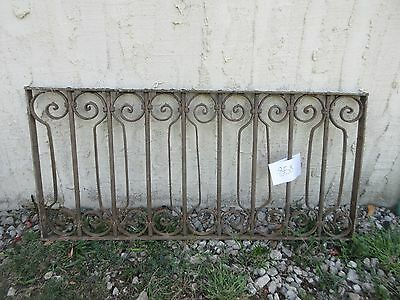 Antique Victorian Iron Gate Window Garden Fence Architectural Salvage #858