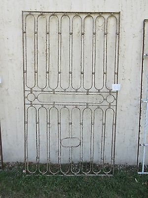 Antique Victorian Iron Gate Window Garden Fence Architectural Salvage #855