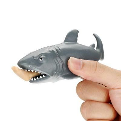 Lifelike Eating Human Leg Cannibal Shark Squeeze Toys Stress Reliever Gift LG