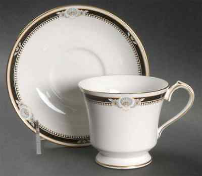 Aynsley SOUTH PACIFIC BLACK Cup & Saucer 24206