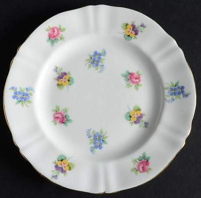 Crown Staffordshire FLORAL BOUQUET (GOLD TRIM) Bread & Butter Plate 10620135