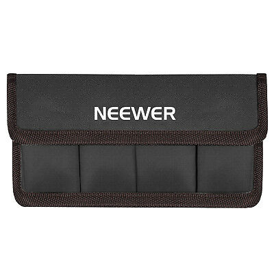 Neewer DSLR Battery Bag Holder Case Coffee for AA Battery and lp-e6 lp-e8 lp-e12
