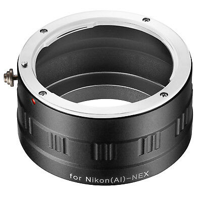 Neewer Lens Mount Adapter for Nikon (AI) Lens to Sony NEX E-Mount Camera
