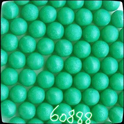 New .68 cal Reusable Rubber Training Balls Paintballs (Green)- 100