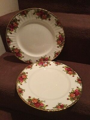 Royal Albert Old County Roses Two Salad Plates 8 Inches
