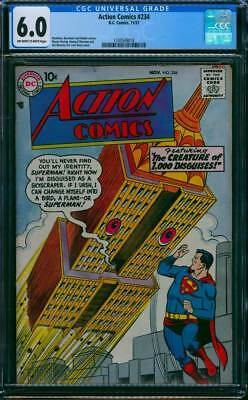 Action Comics # 234  The Creature of 1000 Disguises !  CGC 6.0 scarce book !