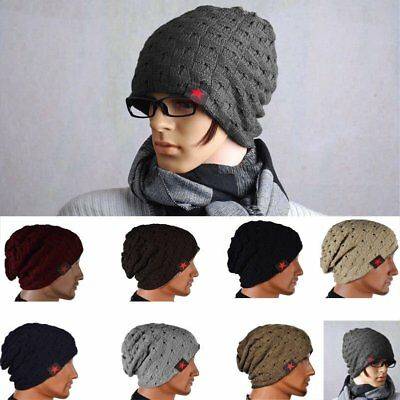0a4ca490e98 Men's Women's Knit Baggy Beanie Oversize Fashion Winter Hat Ski Slouchy  Chic Cap