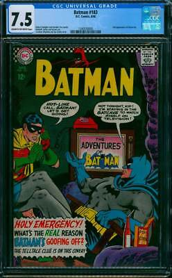 Batman # 183  What's the Reason Batman is Goofing Off ?  CGC 7.5 scarce book !