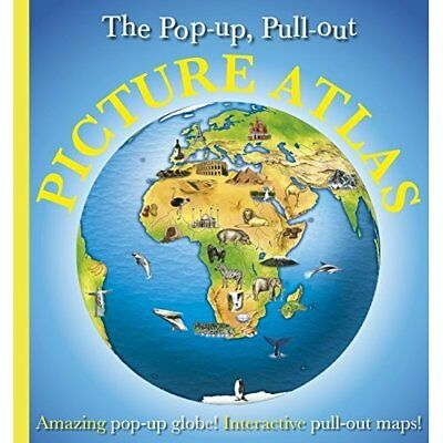 Pop-Up, Pull-Out, Picture Atlas (Dk General) - Hardcover NEW Kindersley, Dor 200