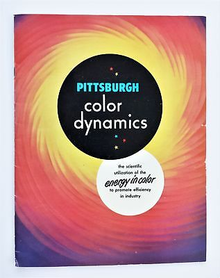 1947 vintage PITTSBURGH PAINTS COLOR DYNAMICS sales ad book plate glass company