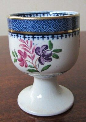 """Booths Silicon China Egg Cup.  """"Lowestoft Border"""" Pattern"""