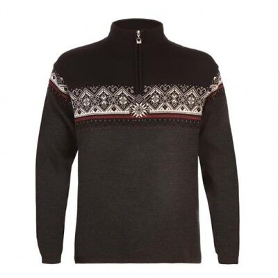 Dale of  Norway St. Moritz dark charcoal/raspberry/black/off white Pullover