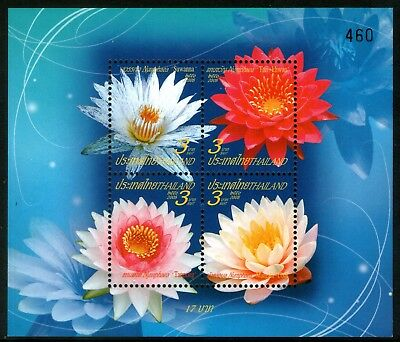 Thailand 2008 New Year Flowers Miniature Sheet Mint Unhinged