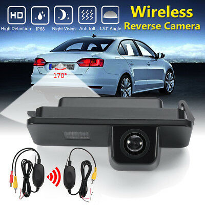 Wireless CCD Reverse Rear View Backup Camera Kit For VW Golf MK4 CC Seat Altea
