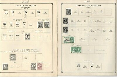 Turks & Caicos Collection 1882-1993 on 35 Scott International & Minkus Pages