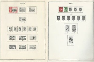 Uganda Collection 1895 to 1983 on 45 One-Sided Minkus Specialty Pages